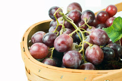 Basket Full of Fruit Grapes Royalty Free Stock Photos