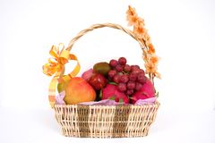 Basket full of fruits. A Basket full of fruits Royalty Free Stock Photo