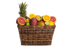 Basket full of fruits Stock Photography