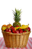 Basket full of fruits royalty free stock photos