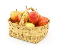 Basket full of gala apples Royalty Free Stock Images