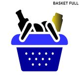 Basket full icon symbol design vector illustration