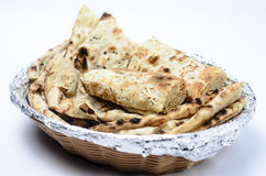 Basket full on Naans Stock Photography