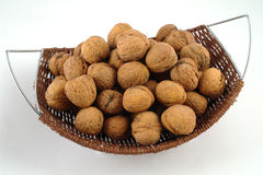 Basket full of nuts Royalty Free Stock Images
