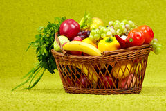 Basket Full Of Fresh Produce. Royalty Free Stock Photography