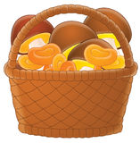 Basket full of pastries Royalty Free Stock Photo