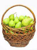 Basket full of pears Stock Image