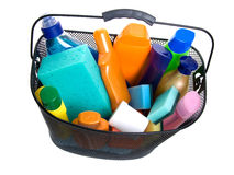 Basket full of plastic bottle Stock Image