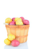Basket Full of Red and White Potatoes Royalty Free Stock Images