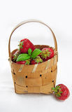 Basket full of strawberries. Basket full of fresh juicy strawberries Stock Photography