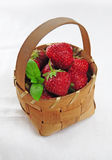 Basket full of strawberries. Basket full of fresh juicy strawberries Stock Image