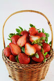 Basket full of strawberries Stock Photos