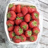 A basket full of strawberries Stock Image