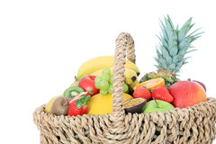 Basket full of various fruits Stock Photography