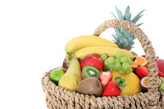 Basket full of various fruits Royalty Free Stock Image