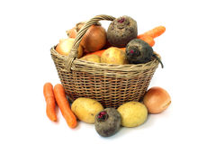 Basket full of various vegetables Stock Photography
