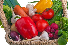 Basket full of vegetable Royalty Free Stock Photos