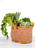 Basket full of vegetables Royalty Free Stock Photo