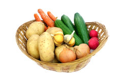 Basket full of vegetables Stock Photo