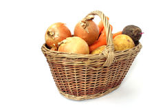 Basket full of vegetables Stock Images