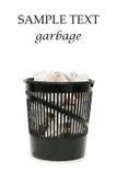Basket for garbage royalty free stock image