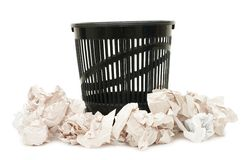 Basket for garbage Stock Photos