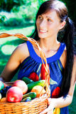 Basket garden woman Royalty Free Stock Photo