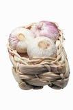 Basket of Garlic Royalty Free Stock Photo