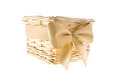 Basket for a gift Royalty Free Stock Images