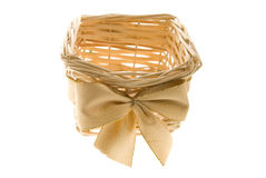 Basket for a gift Stock Photography