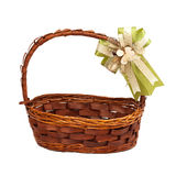 Basket with gift bow Royalty Free Stock Images
