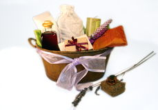 basket gift spa Στοκ εικόνα με δικαίωμα ελεύθερης χρήσης