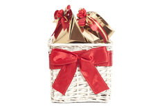 Basket with gifts Stock Photos
