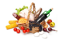 Basket of goods Stock Photography