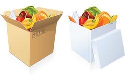 Basket of goods Stock Photos