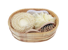 Basket of Goods for personal care Royalty Free Stock Photos