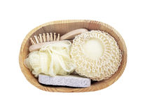 Basket of Goods for personal care Stock Images