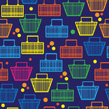 Basket of goods seamless pattern Stock Image