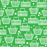 Basket of goods seamless pattern Stock Photo