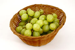 Basket grapes Stock Images