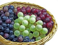 Basket of Grapes Stock Images