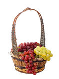 Basket of Grapes Isolated Stock Images