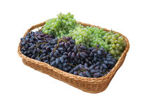 Basket of grapes. Royalty Free Stock Image