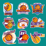 Basket. Graphics and banner for  sport Stock Images
