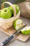 Basket of Green Apples Royalty Free Stock Photography