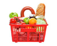 Basket of Groceries Stock Images