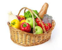 Basket with groceries Stock Image