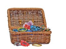 Basket with hairpins collection Stock Photos