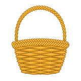 Basket hand made authentic object Stock Photo