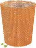 Basket  handle wattled vector. Stock Image